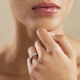 Bague Solitaire Stockholm Or Blanc Diamant Synthetique - Bagues avec pierre Femme   Histoire d'Or