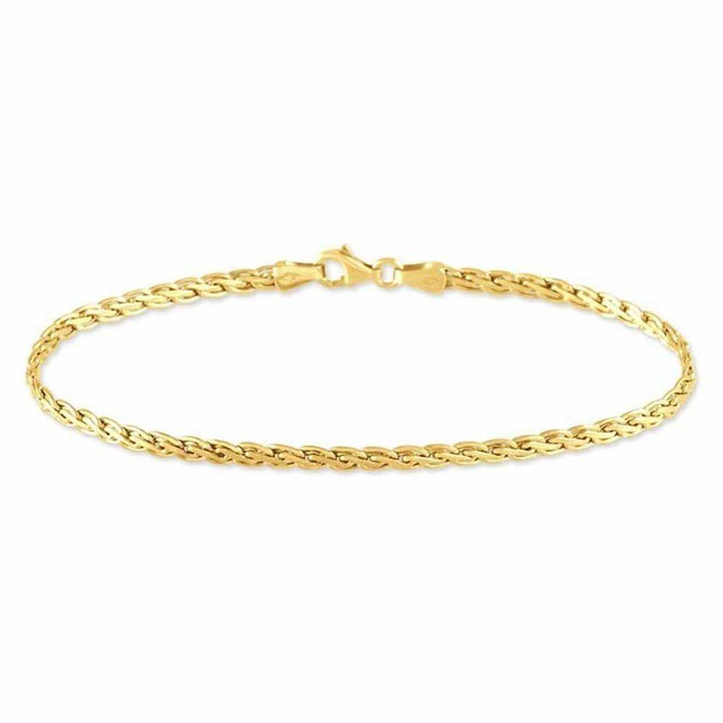 Bracelet Jany Maille Palmier Or Jaune - Bracelets chaîne Femme   Histoire d'Or