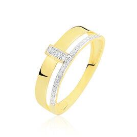 Bague Miwa Or Jaune Diamant - Bagues Croix Femme | Histoire d'Or