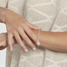 Bracelet Elios Argent Blanc Oxyde De Zirconium - Bracelets fantaisie Femme   Histoire d'Or