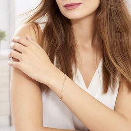 Bracelet Caralia Plaque Or Jaune - Bracelets fantaisie Femme | Histoire d'Or