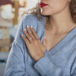 Bague Solitaire Accompagné Aramis Or Jaune Diamant Synthétique - Bagues solitaires Femme | Histoire d'Or