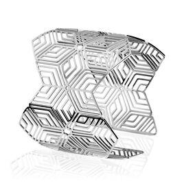 Manchette Acier Motif Geometrique - Bracelets fantaisie Femme   Histoire d'Or