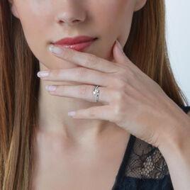 Bague Clarina Or Blanc Oxyde De Zirconium - Bagues avec pierre Femme | Histoire d'Or