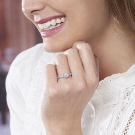 Bague Celia Or Blanc Diamant - Bagues avec pierre Femme   Histoire d'Or