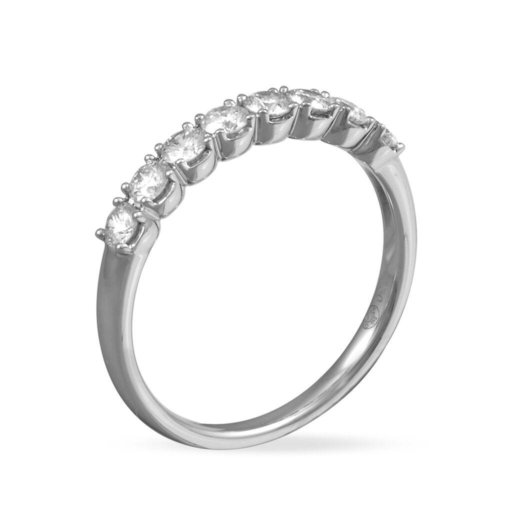 Alliance Eloise Platine Blanc Diamant - Alliances Femme   Histoire d'Or
