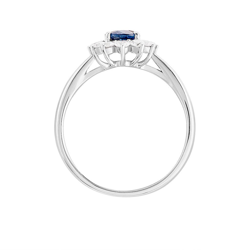 Bague Vladimir Or Blanc Saphir Et Diamant - Bagues solitaires Femme | Histoire d'Or