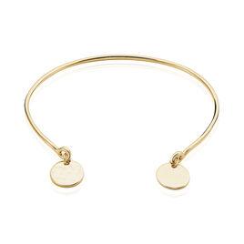Bracelet Jonc Severin Plaque Or Jaune - Bracelets fantaisie Femme | Histoire d'Or