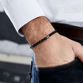 Bracelet Genaelleae Acier Blanc Agate - Bracelets fantaisie Homme | Histoire d'Or