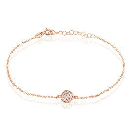 Bracelet Helinie Or Rose Oxyde De Zirconium - Bijoux Femme | Histoire d'Or