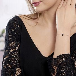 Bracelet Colline Argent Rose Oxyde De Zirconium - Bracelets fantaisie Femme   Histoire d'Or