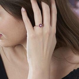 Bague Milana Or Rose Rubis Et Diamants  - Bagues avec pierre Femme   Histoire d'Or