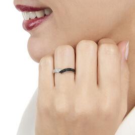 Bague Aile De Mouette Or Blanc Diamant - Bagues avec pierre Femme | Histoire d'Or