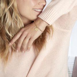 Bracelet Neala Plaque Or Jaune - Bracelets Coeur Femme   Histoire d'Or