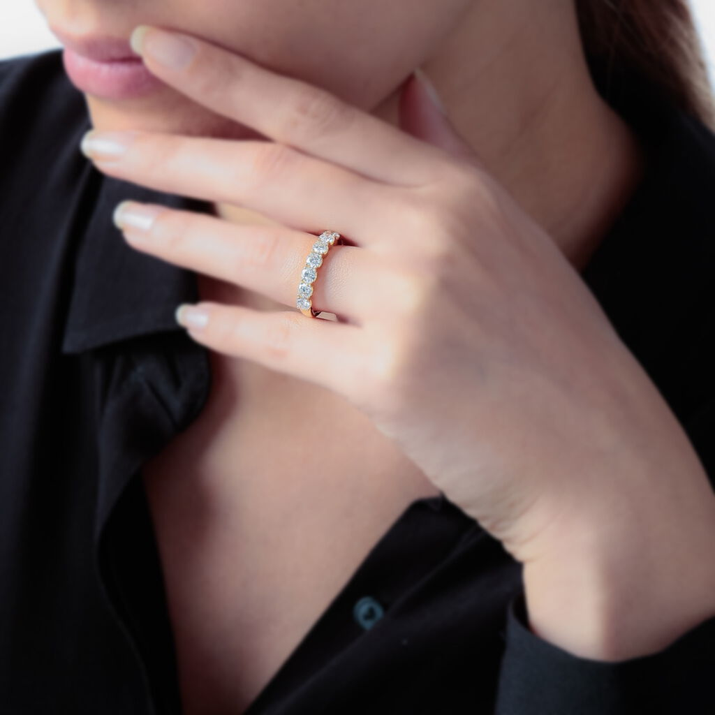 Alliance Eloise Or Rose Diamant - Alliances Femme   Histoire d'Or