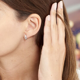 Boucles D'oreilles Pendantes Ange-line Argent Blanc Oxyde De Zirconium - Boucles d'oreilles fantaisie Femme   Histoire d'Or