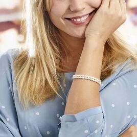 Bracelet Pygmalion Argent Blanc Oxyde De Zirconium Perle De Culture - Bracelets fantaisie Femme | Histoire d'Or