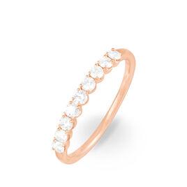 Alliance Eloise Or Rose Diamant - Alliances Femme | Histoire d'Or
