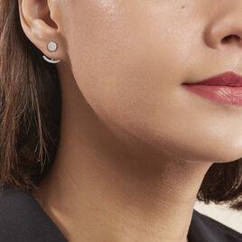 Bijoux D'oreilles Phybie Argent Blanc Oxyde De Zirconium - Boucles d'oreilles fantaisie Femme | Histoire d'Or