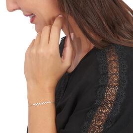 Bracelet Abby-gaelle Or Blanc Oxyde De Zirconium - Bijoux Femme | Histoire d'Or