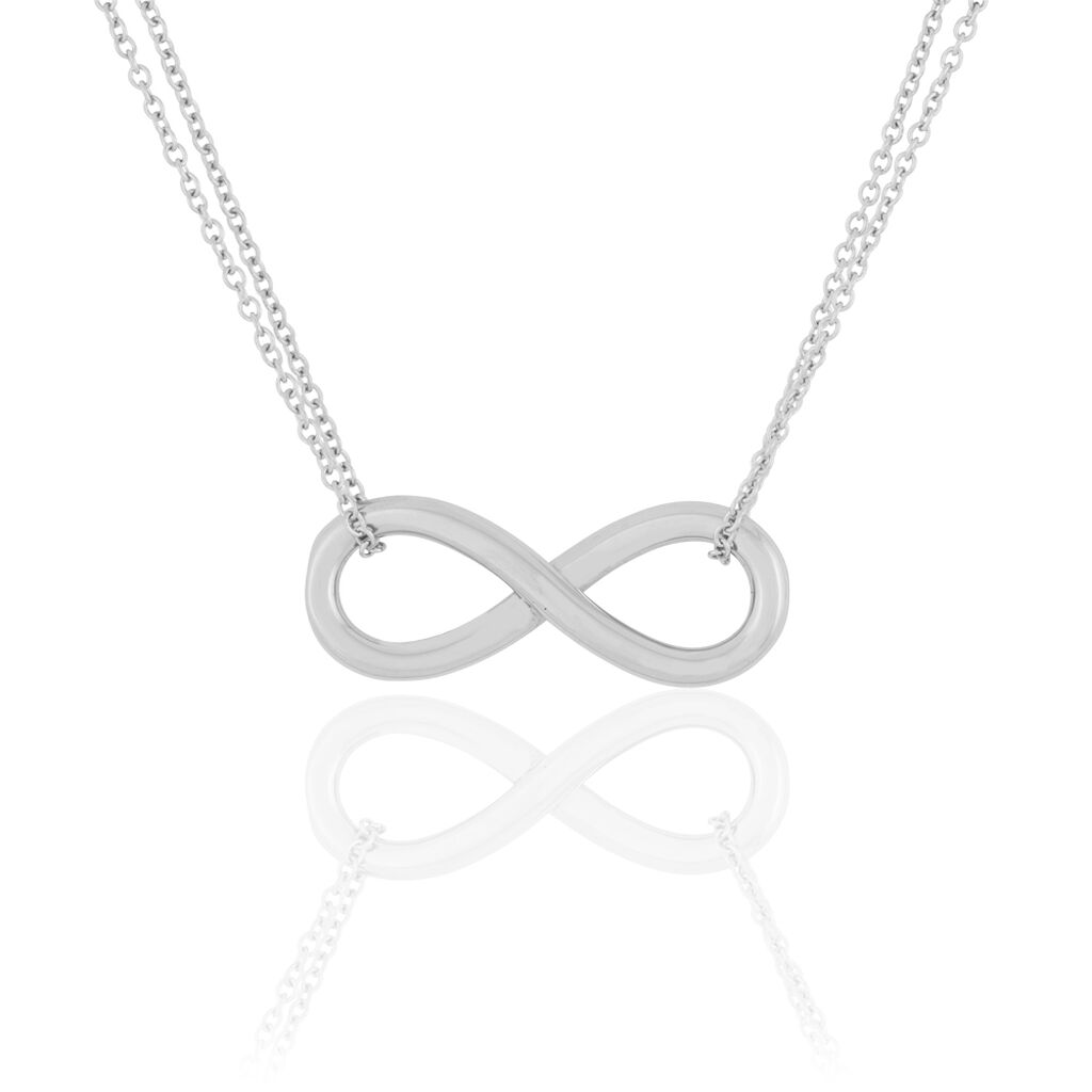 Collier Ynya Acier Blanc - Colliers Infini Femme | Histoire d'Or