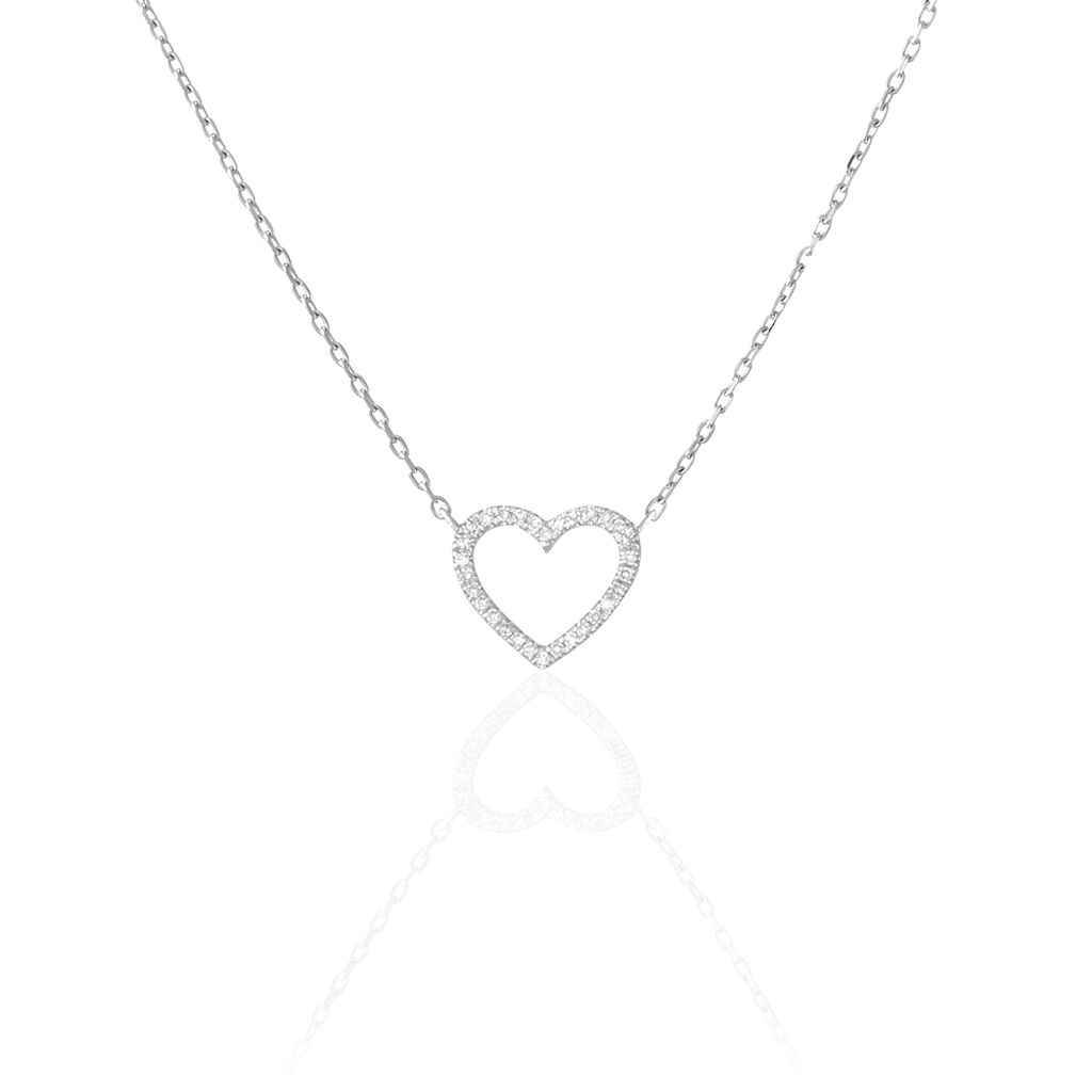Collier Sloanne Or Blanc Diamant