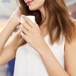 Bracelet Kahena Argent Blanc Oxyde De Zirconium - Bracelets fantaisie Femme   Histoire d'Or