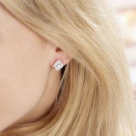 Boucles D'oreilles Puces Anasthase Argent Blanc Oxyde De Zirconium - Boucles d'oreilles fantaisie Femme | Histoire d'Or