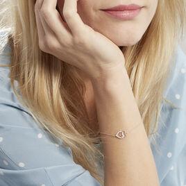 Bracelet Ottavia Argent Rose Oxyde De Zirconium - Bracelets Coeur Femme | Histoire d'Or