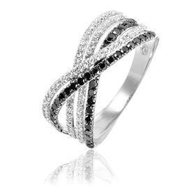 Bague Julianne Or Blanc Diamant - Bagues avec pierre Femme   Histoire d'Or