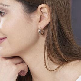 Créoles Marceline Rondes Plaque Or Jaune Oxyde De Zirconium - Boucles d'oreilles créoles Femme | Histoire d'Or