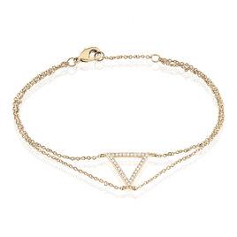 Bracelet Clelie Plaque Or Jaune Oxyde De Zirconium - Bracelets fantaisie Femme   Histoire d'Or