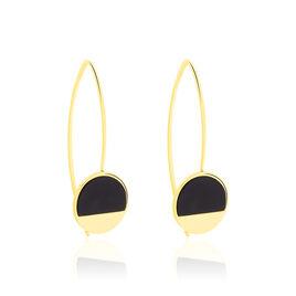 Boucles D'oreilles Pendantes Guenia Or Jaune Onyx - Boucles d'oreilles pendantes Femme   Histoire d'Or