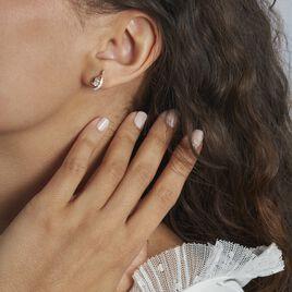 Boucles D'oreilles Sagesse Or Jaune Oxyde Oxyde - Clous d'oreilles Femme | Histoire d'Or