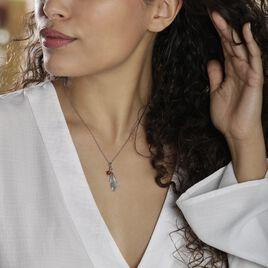 Collier Adriane Argent Blanc Ambre - Colliers Plume Femme | Histoire d'Or