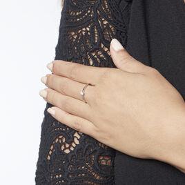 Solitaire  Natalia Platine Blanc Diamant - Bagues solitaires Femme | Histoire d'Or