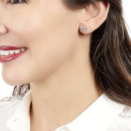 Boucles D'oreilles Puces Natacha Or Blanc Diamant - Clous d'oreilles Femme | Histoire d'Or