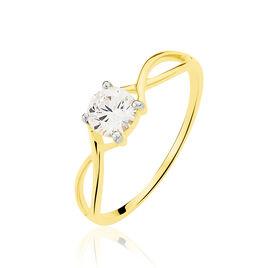 Bague Karlena Or Jaune Oxyde De Zirconium - Bagues avec pierre Femme | Histoire d'Or