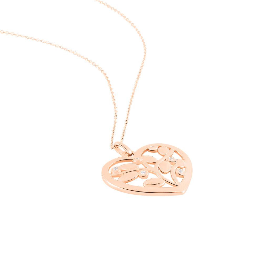 Collier Douglas Argent Rose Oxyde De Zirconium - Colliers Arbre de vie Femme | Histoire d'Or