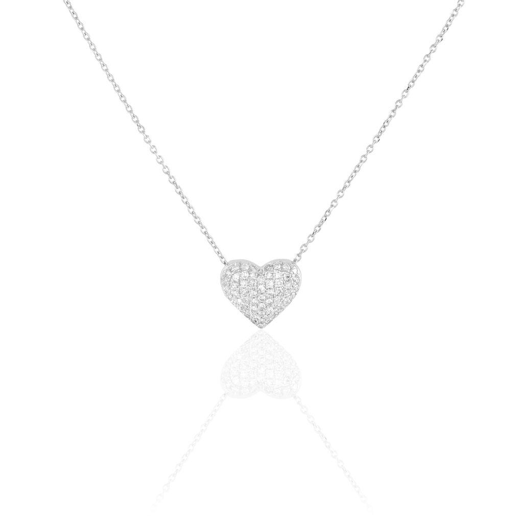 Collier Ti Amo Or Blanc Diamant - Colliers Coeur Femme | Histoire d'Or