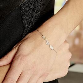 Bracelet Argent Rhodie Alisanos Oxydes De Zirconium - Bracelets Coeur Femme | Histoire d'Or
