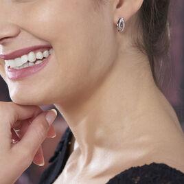 Boucles D'oreilles Pendantes Solyne Argent Blanc Oxyde De Zirconium - Boucles d'oreilles fantaisie Femme | Histoire d'Or