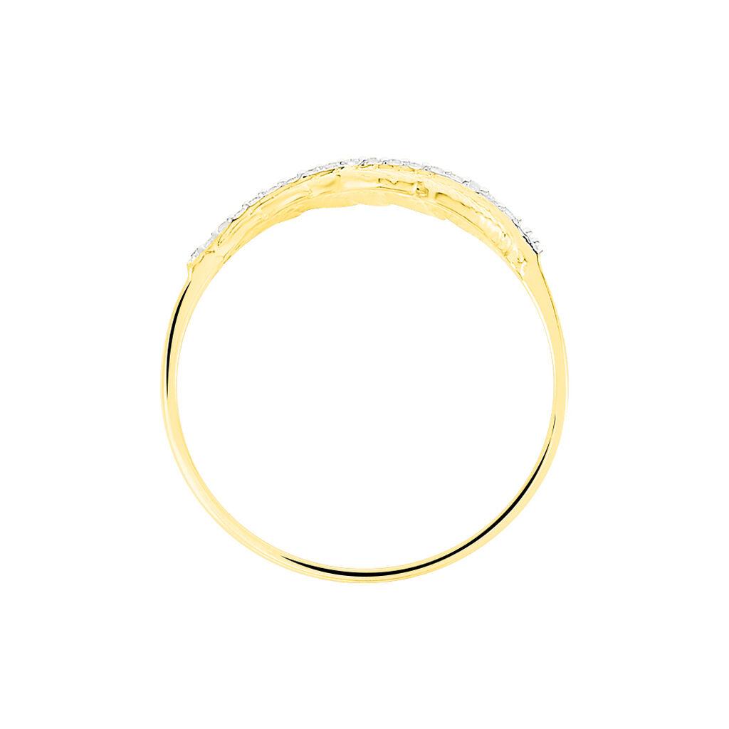 Bague Paola Or Jaune Diamant - Bagues Plume Femme   Histoire d'Or