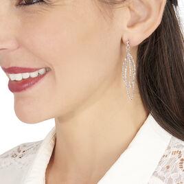 Boucles D'oreilles Pendantes Shiny Argent Blanc - Boucles d'oreilles fantaisie Femme | Histoire d'Or