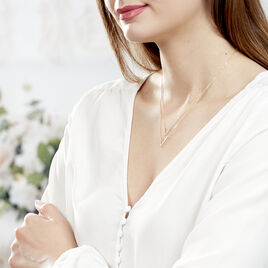 Collier Daina Or Jaune Oxyde De Zirconium - Bijoux Femme   Histoire d'Or