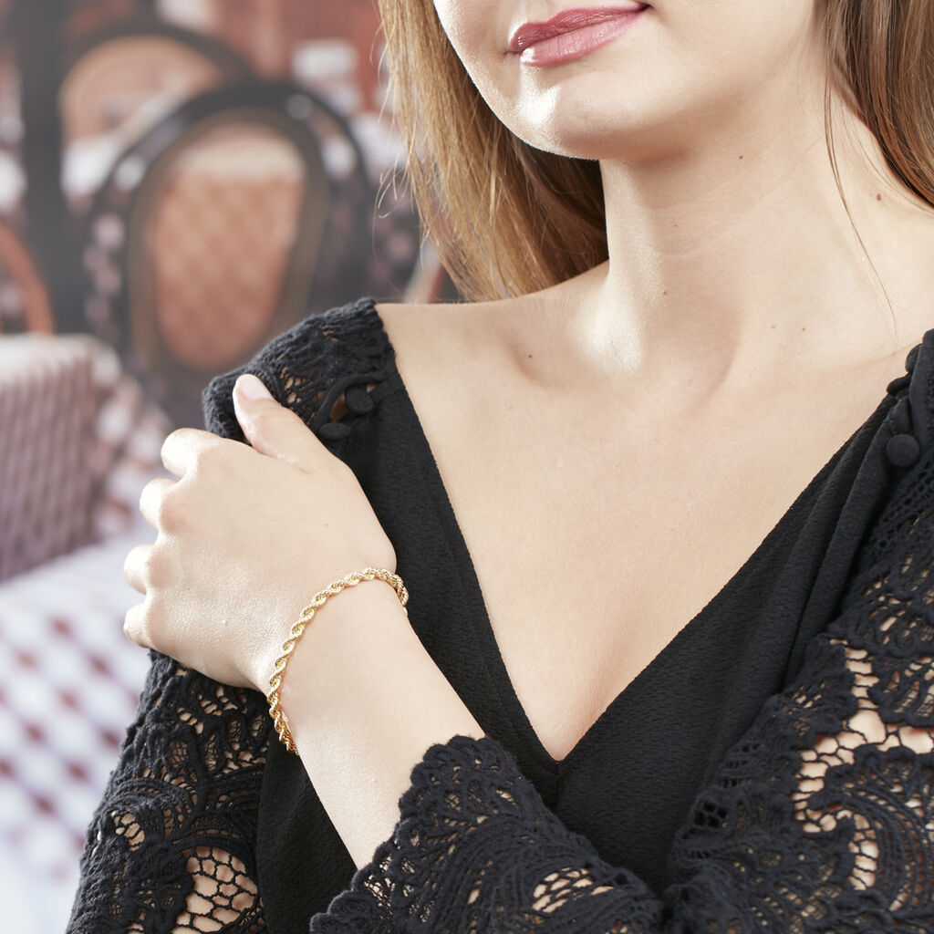 Bracelet Jerry Maille Corde Or Jaune - Bracelets chaîne Femme | Histoire d'Or