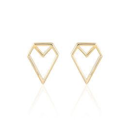 Boucles D'oreilles Pendantes Albane Plaque Or Jaune - Boucles d'oreilles fantaisie Femme | Histoire d'Or