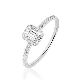Bague Solitaire Barbara Platine Blanc Diamant - Bagues avec pierre Femme | Histoire d'Or