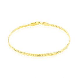 Bracelet Or Jaune Maille Anglaise Elnora - Bracelets Naissance Enfant | Histoire d'Or