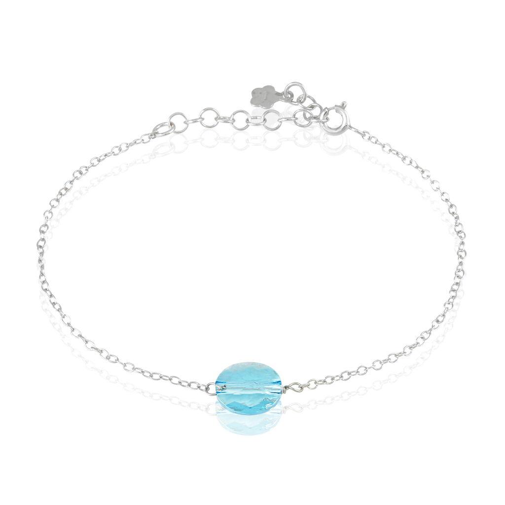Bracelet Sirene Argent Blanc Pierre De Synthese - Bracelets fantaisie Femme | Histoire d'Or